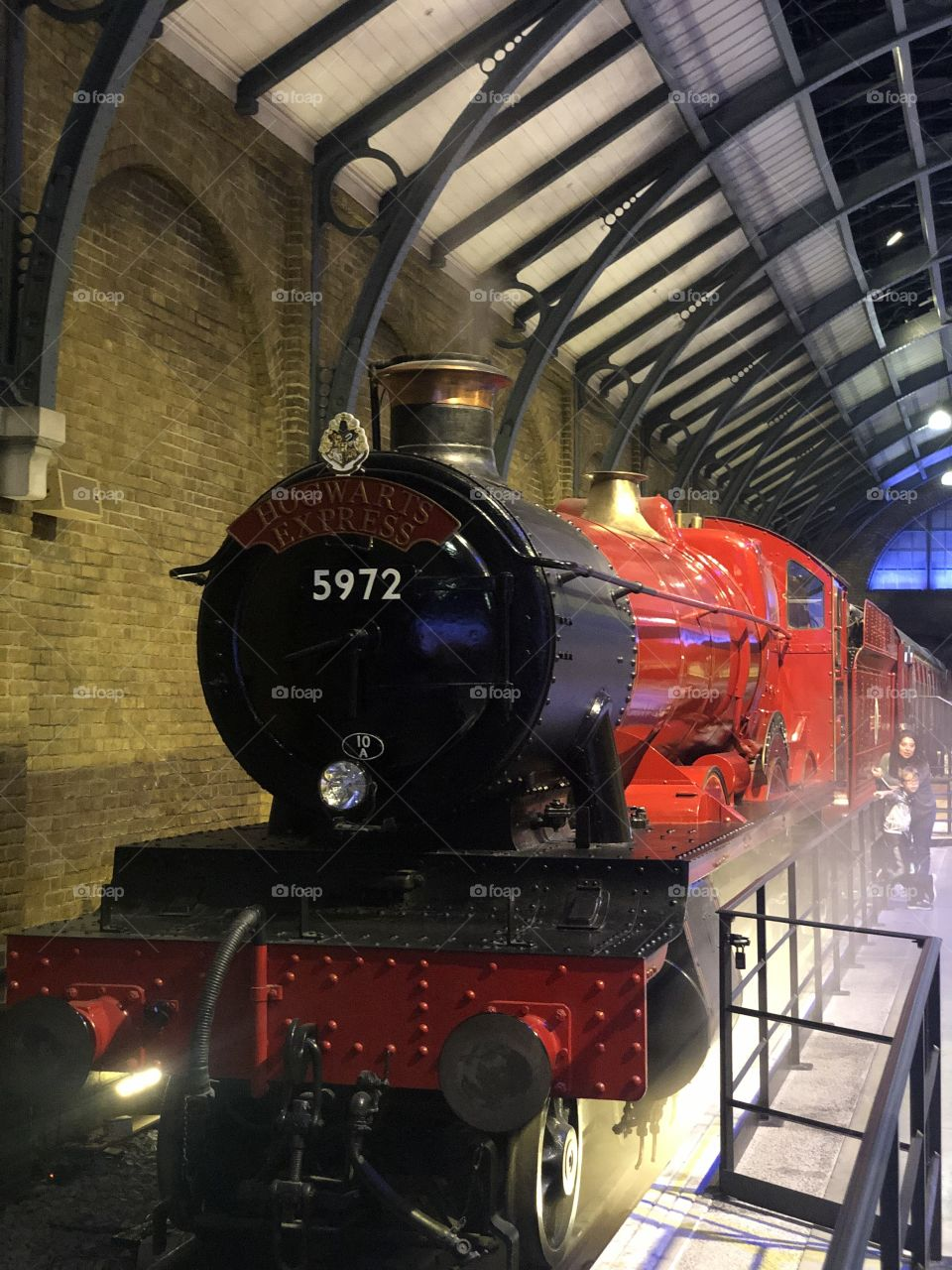The Hogwarts express train used in the movies