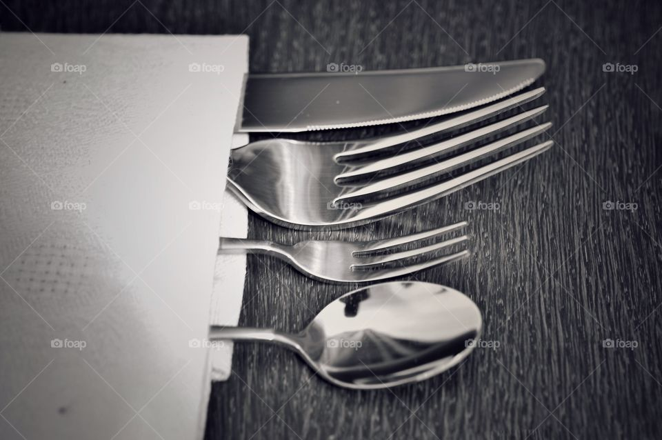 Fork, Spoon, Silverware,