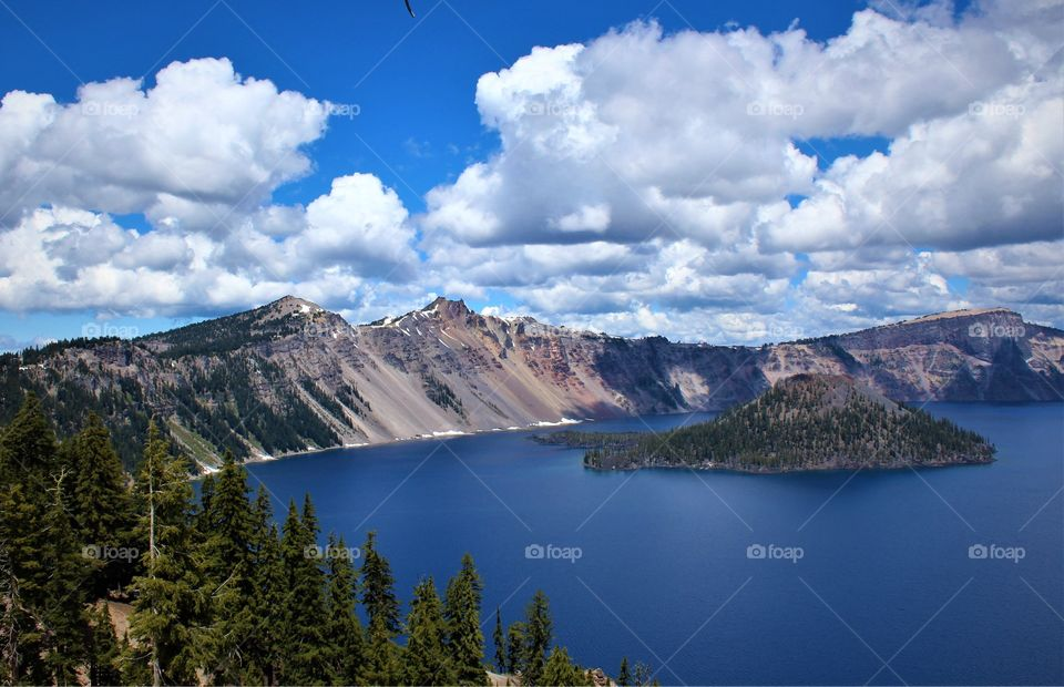 Beauty from destruction; Wizard Island; Crater Lake State Park, Oregon