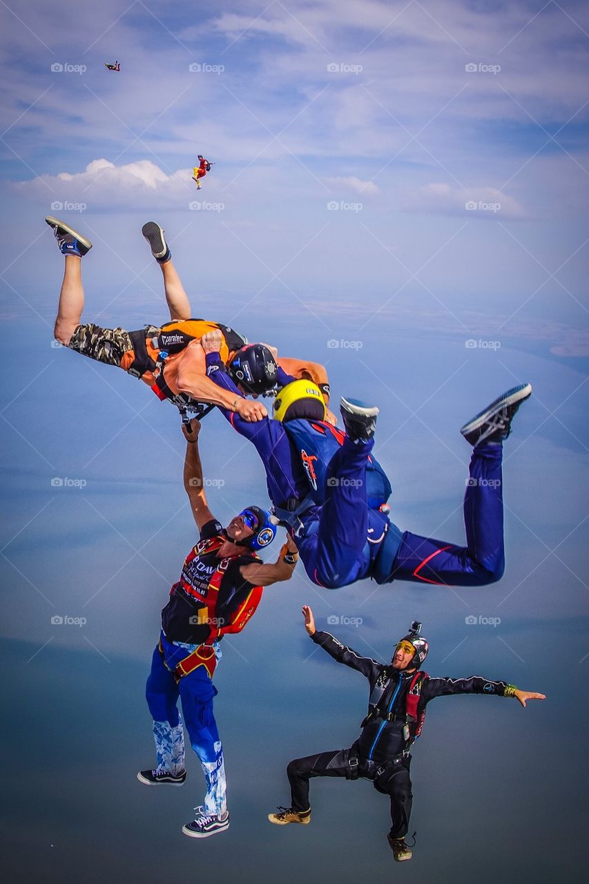 Hybrid skydive over Sylt