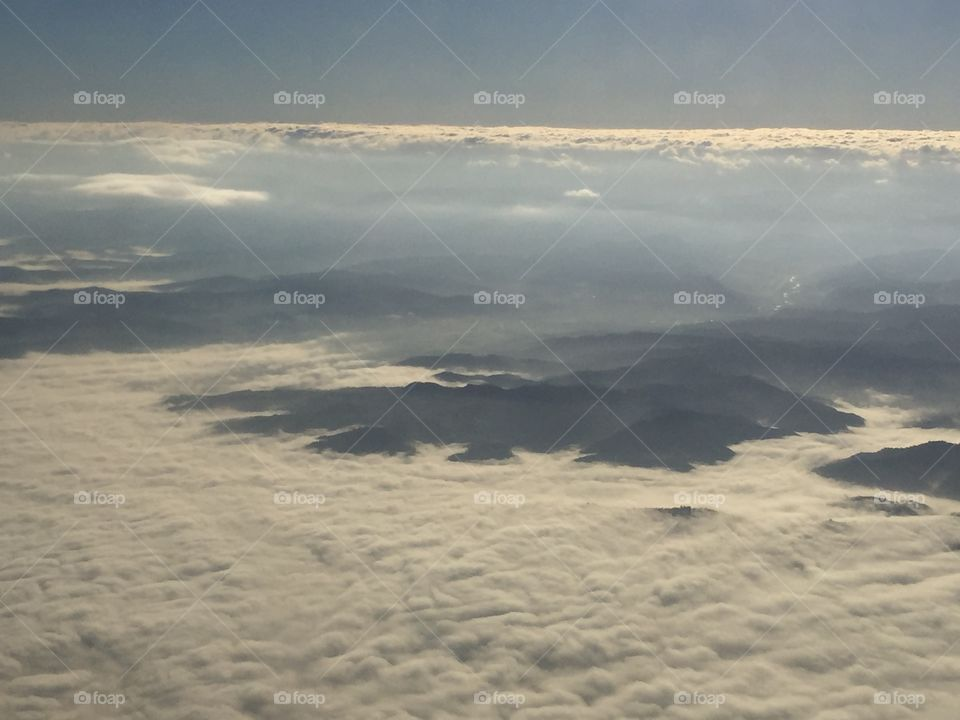 The layer of fog from above