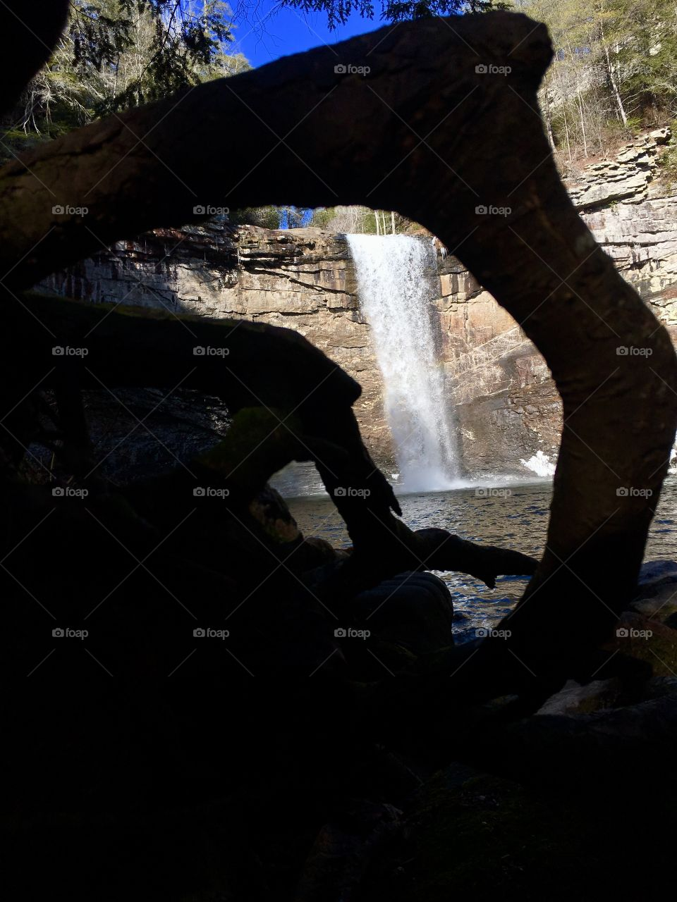 Hiking around Foster Falls in South Cumberland State  Park in Tennessee