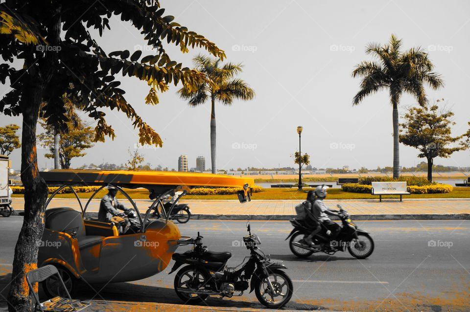 Phnom Penh Street ride. Cambodia