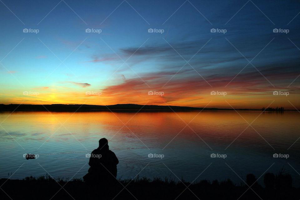landscape ocean background sunset by dryair