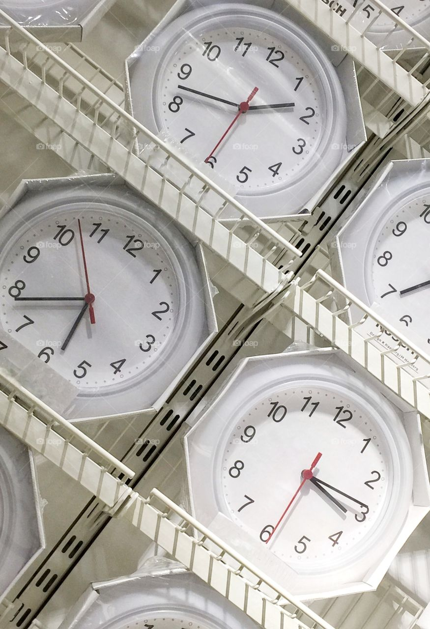 Wall of clocks