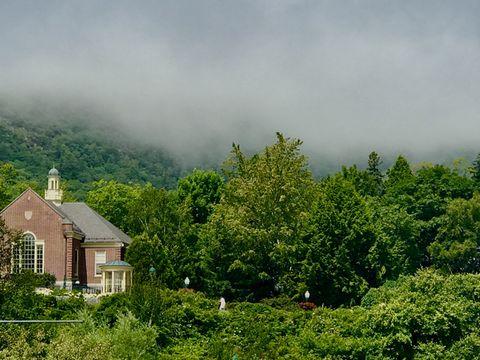 Foggy Mountaintop in Camden, Maine