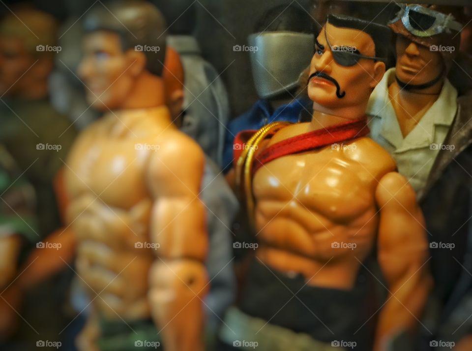 Gay Pride. Male Muscle Plastic Dolls