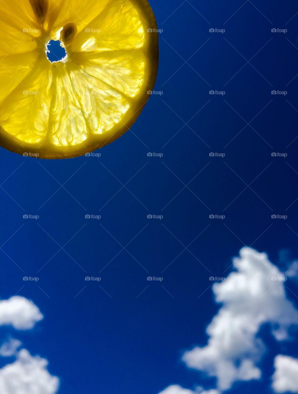 Sunshine lemon slice