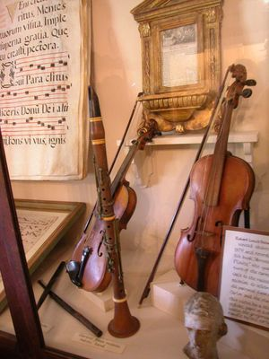Musical instruments from baroque era