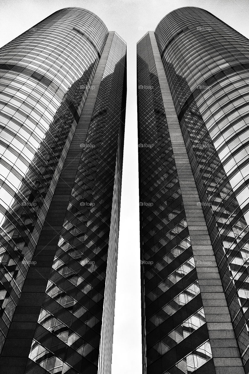 china buildings lines skyscraper by olijohnson