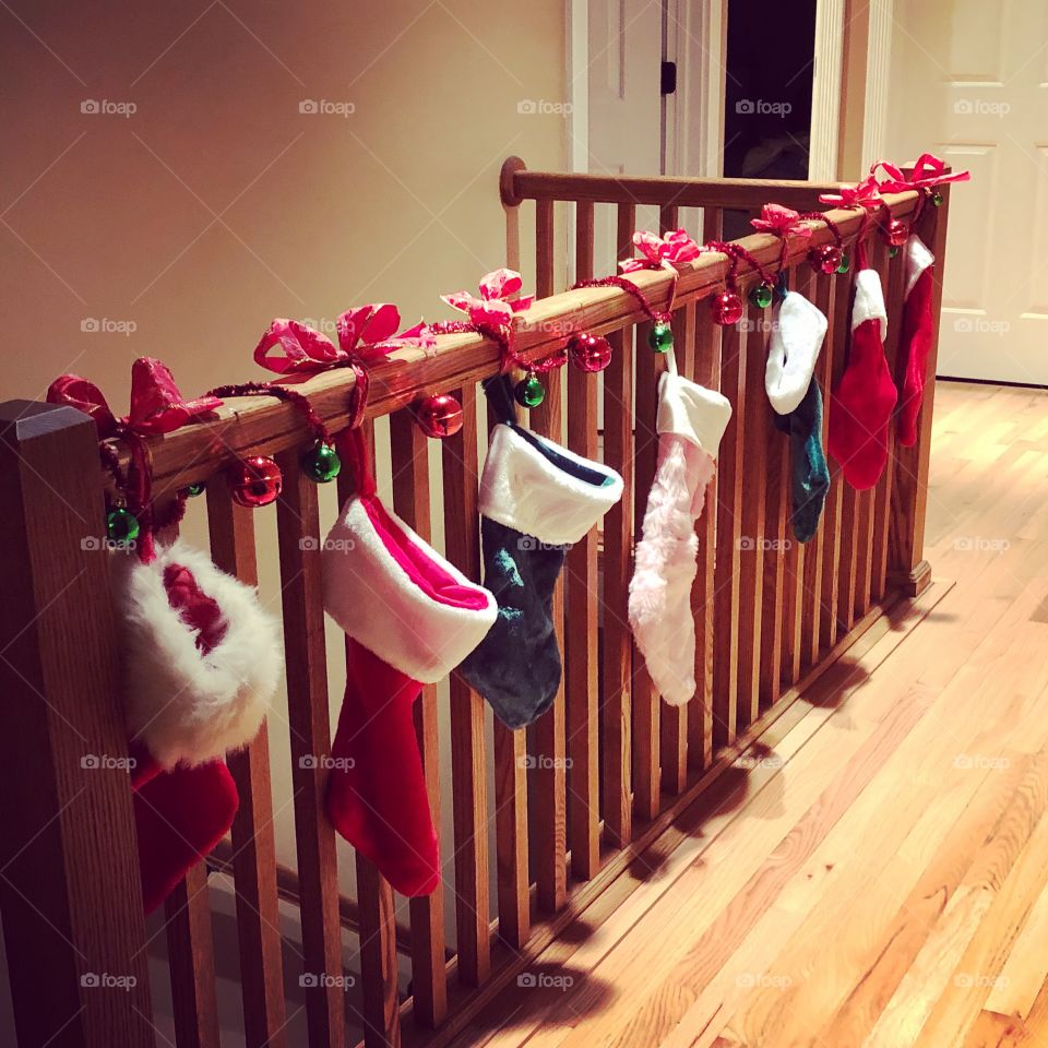 The stockings are hung.