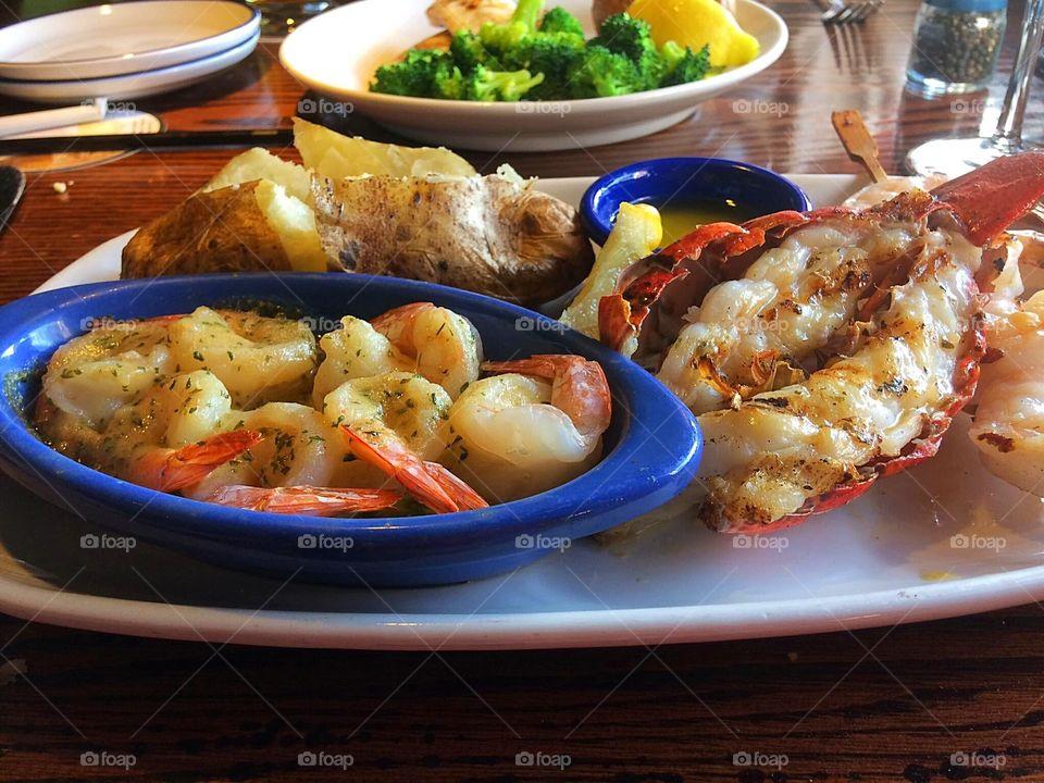 Seafood feast platter