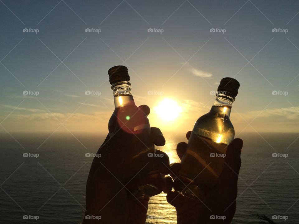 Sunset, Beach, Sea, Water, Landscape