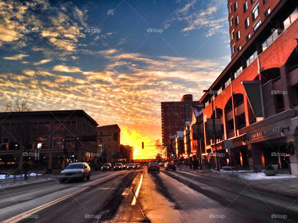 Sunset On Hennepin Ave No. 1