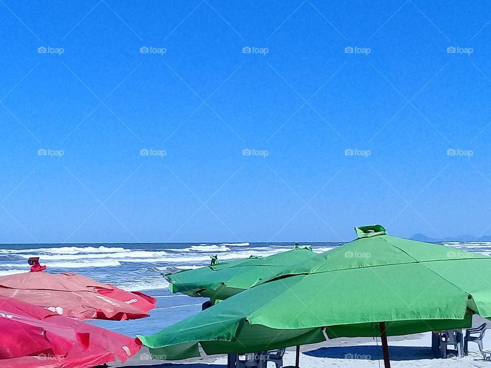 Beautiful day. Mongagua  beach Brasil