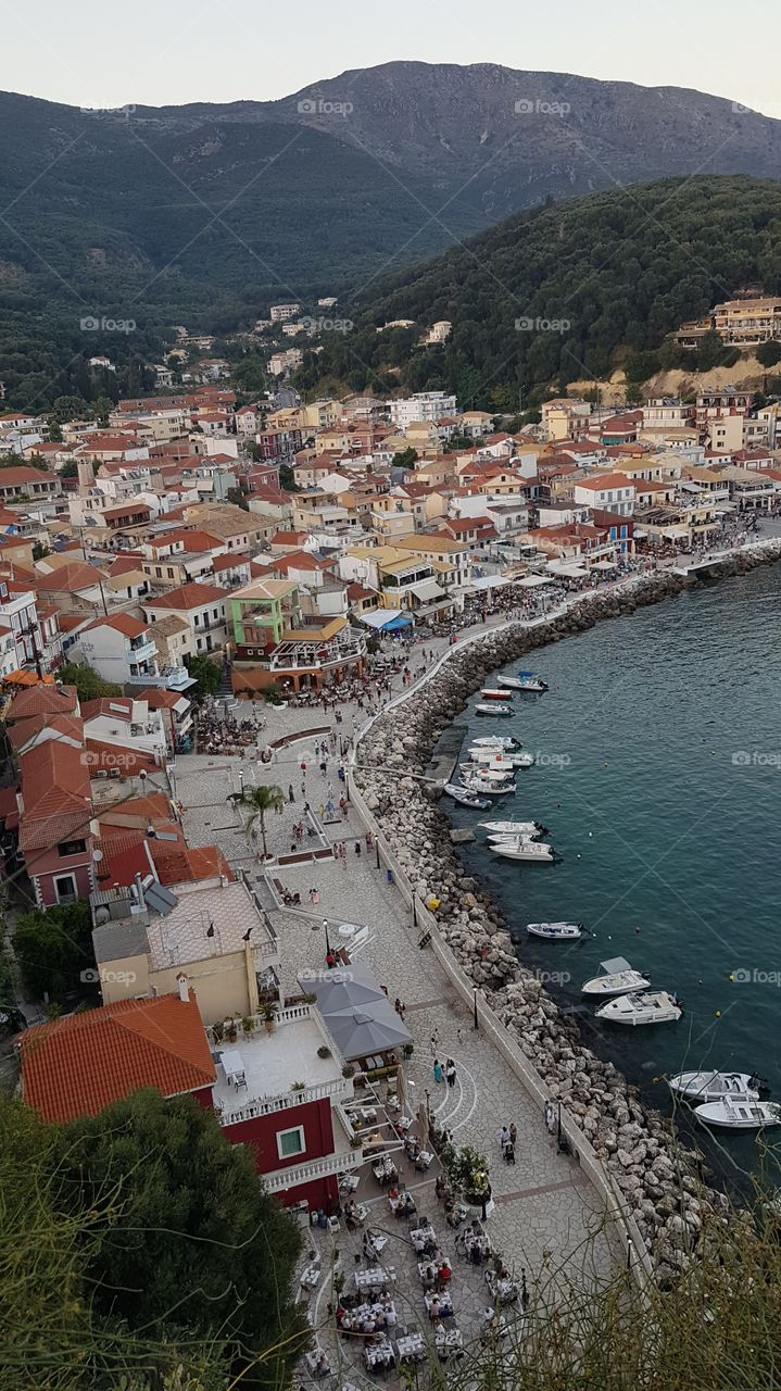 parga greece. View from the fortress