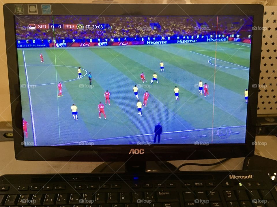 Brasil x Sérvia (ou, se preferir: BRA X SRB) pela Copa do Mundo da Rússia 2018. Viva o futebol!