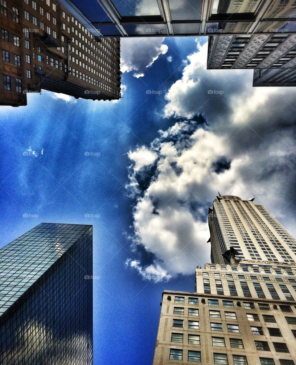 Looking up in New York City