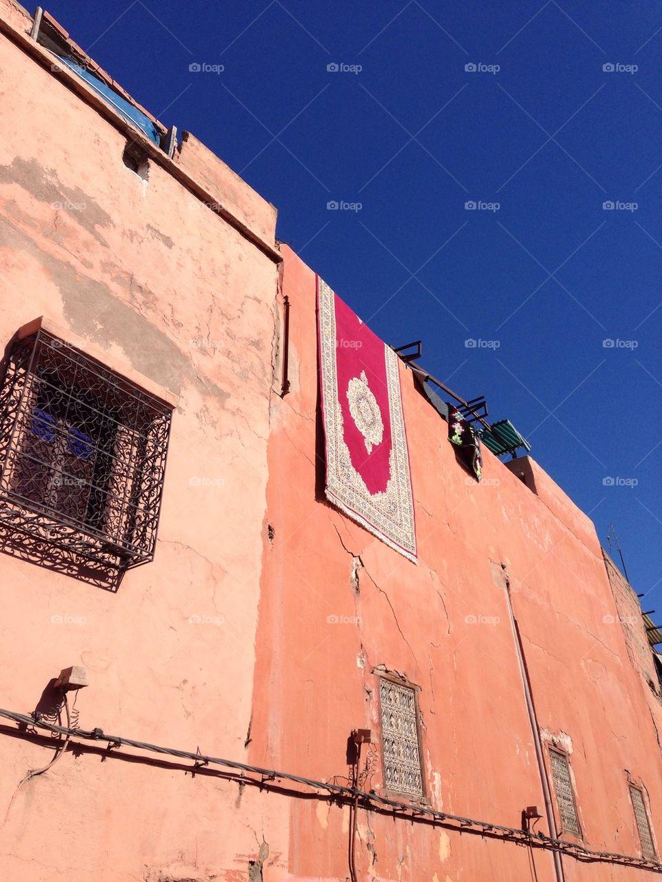 Rug Hanging in the Medina