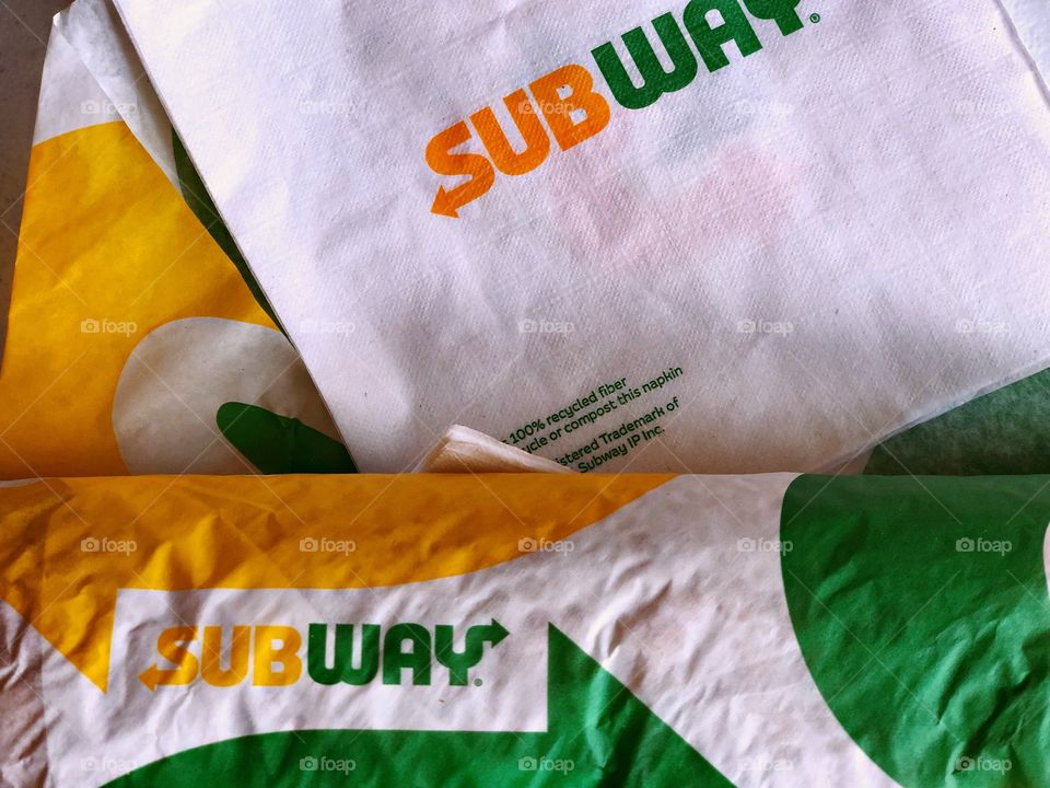 Subway Sandwich, Advertising Logos, Brightly Colored Logos, Submarine Sandwiches