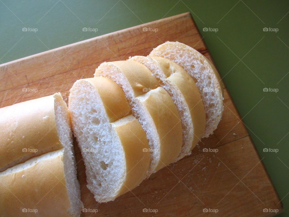 Sliced loaf of Cuban bread