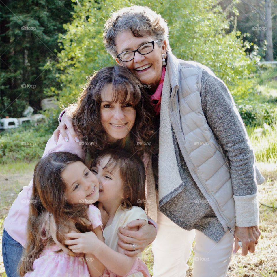Generations of LOVE . Grandmother, Mother, Daughters
