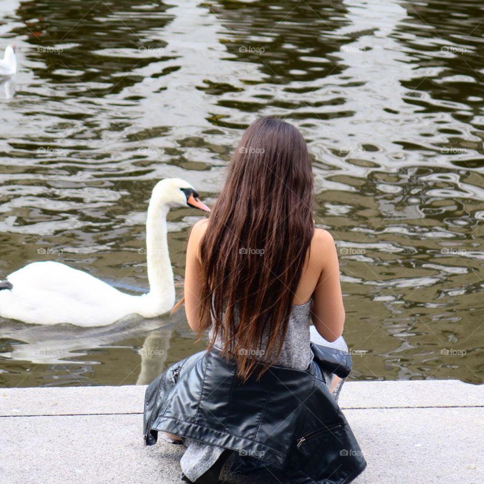 Girl& Swan