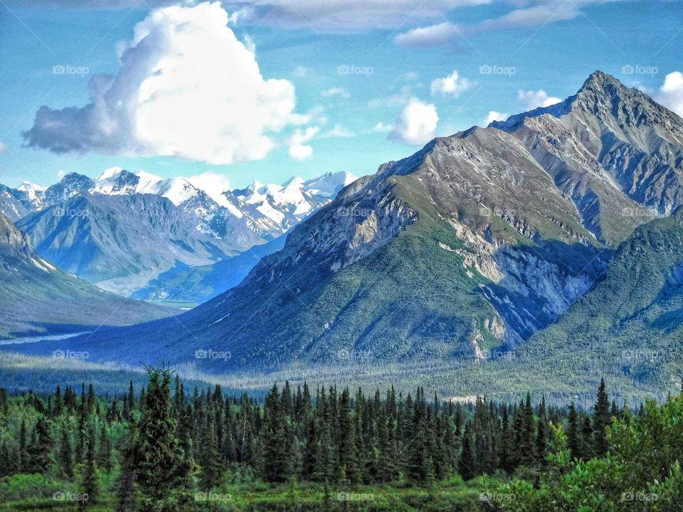 Breathtaking Chugash Mountain Range in Alaska