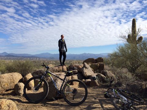 Mountain biker at Browns Ranch in Scottsdale, Arizona
