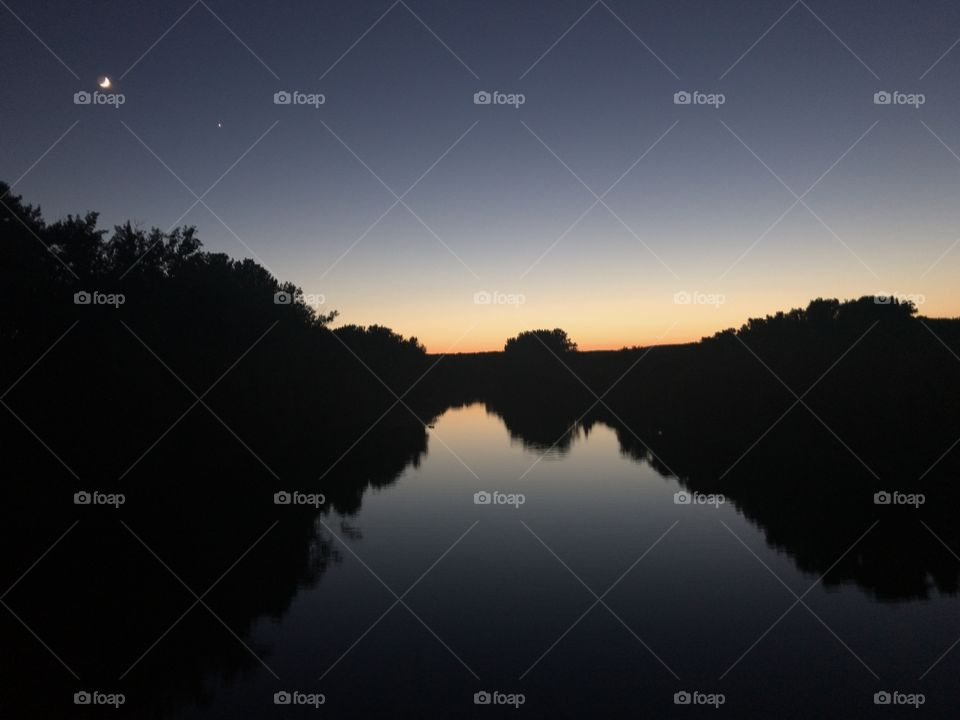 Connecticut River at sunset