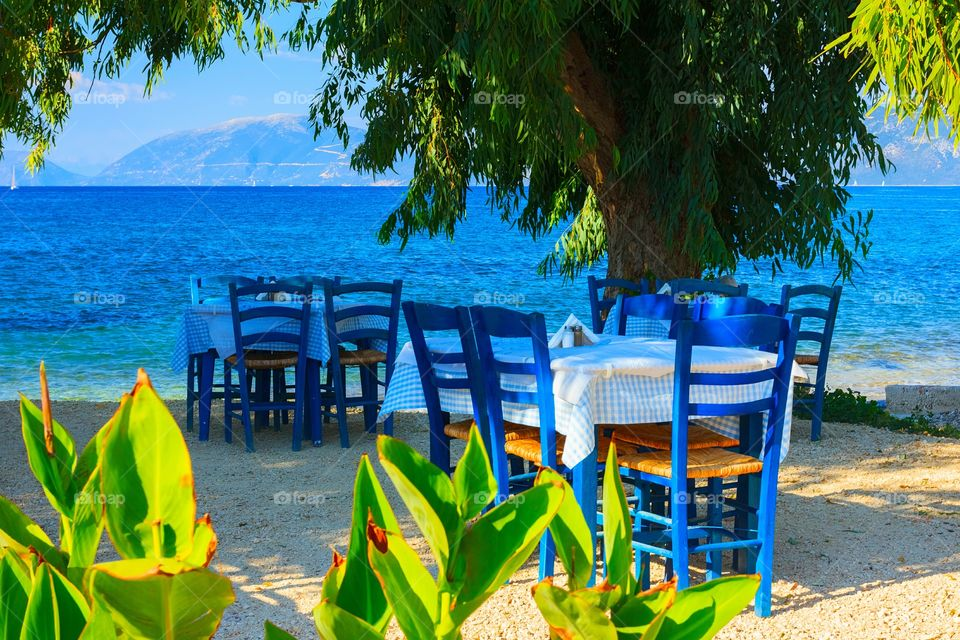 Blue cafe