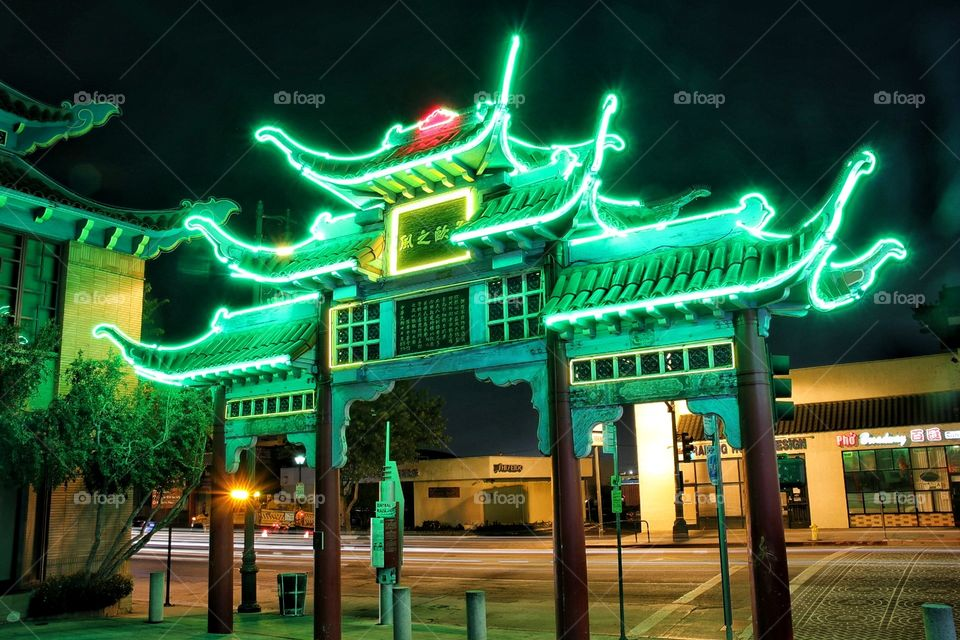 Chinatown entrance in Los Angeles