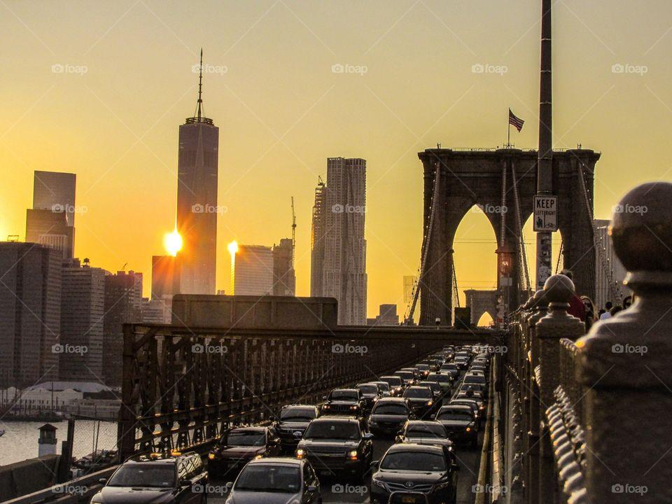 Brooklyn Golden Rush Hour. Brooklyn Golden Rush Hour
