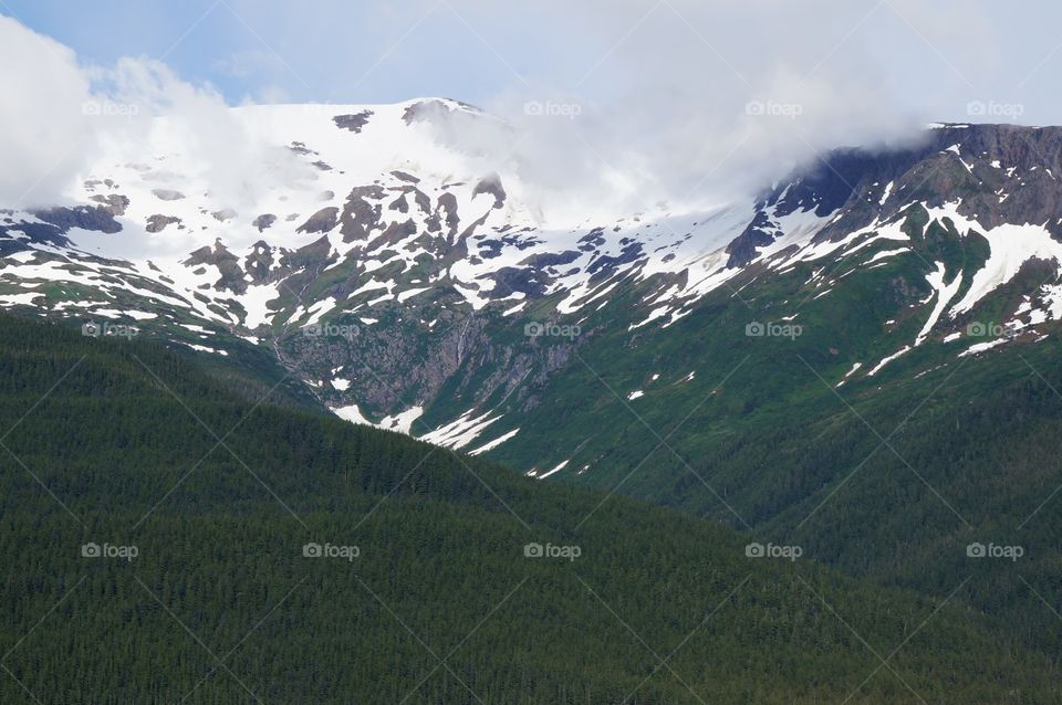 Snow is still visible in the Summer