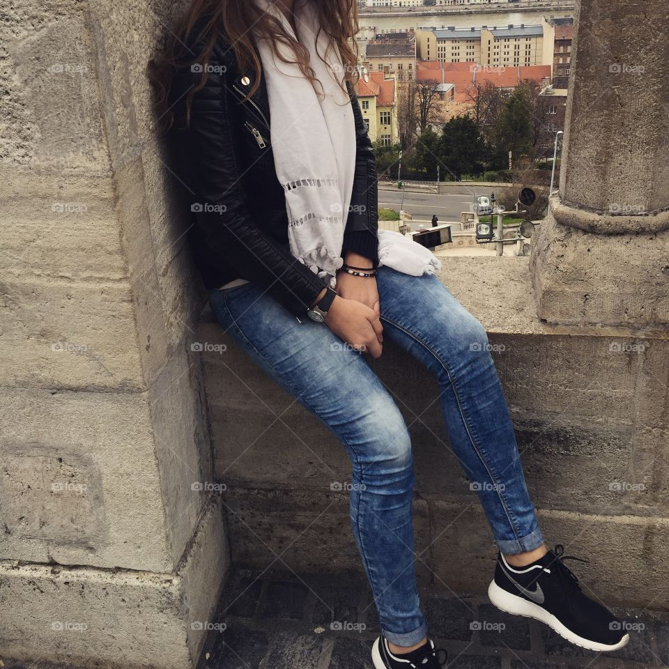 Budapest outfit. The photo was taken of me in the Buda Castle in Budapest, Hungary.