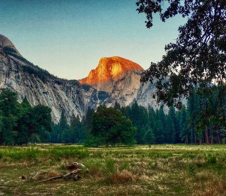 Sunset on Half Dome, Yosemite National park, CA