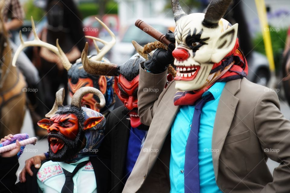 Men In Devil Masks