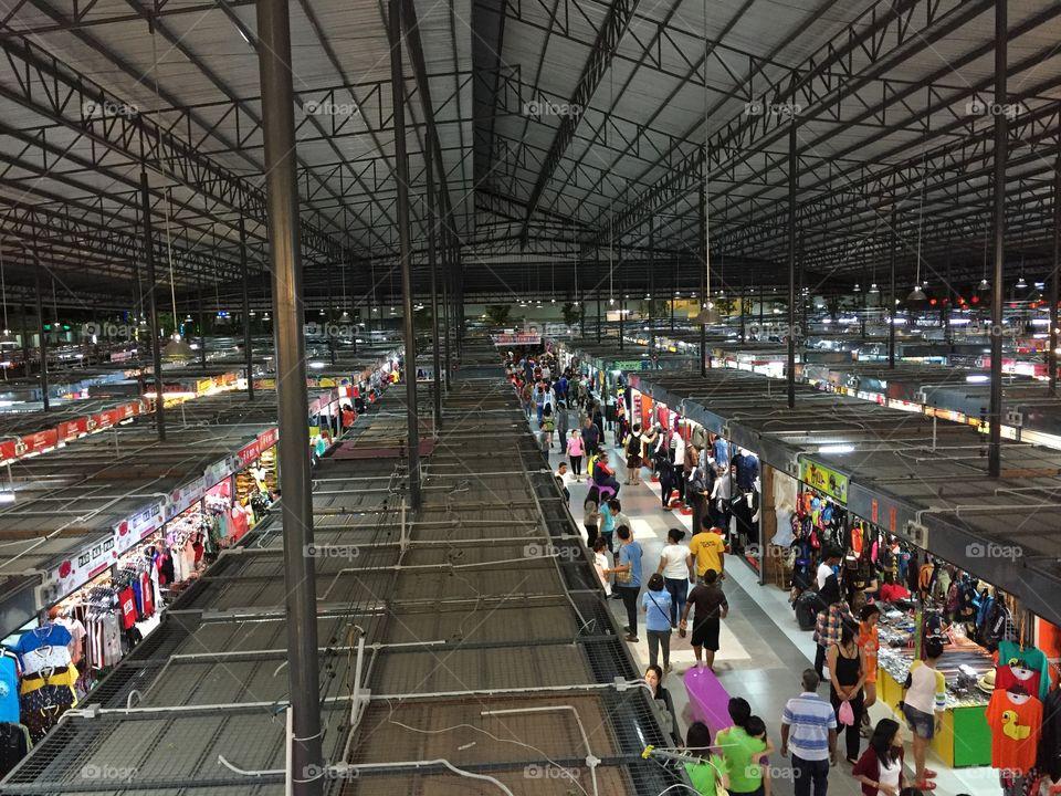 Night market in Hatyai Thailand. Taken at 18 April 2015