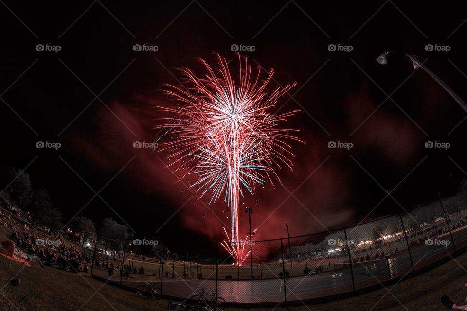 Fireworks for the celebration