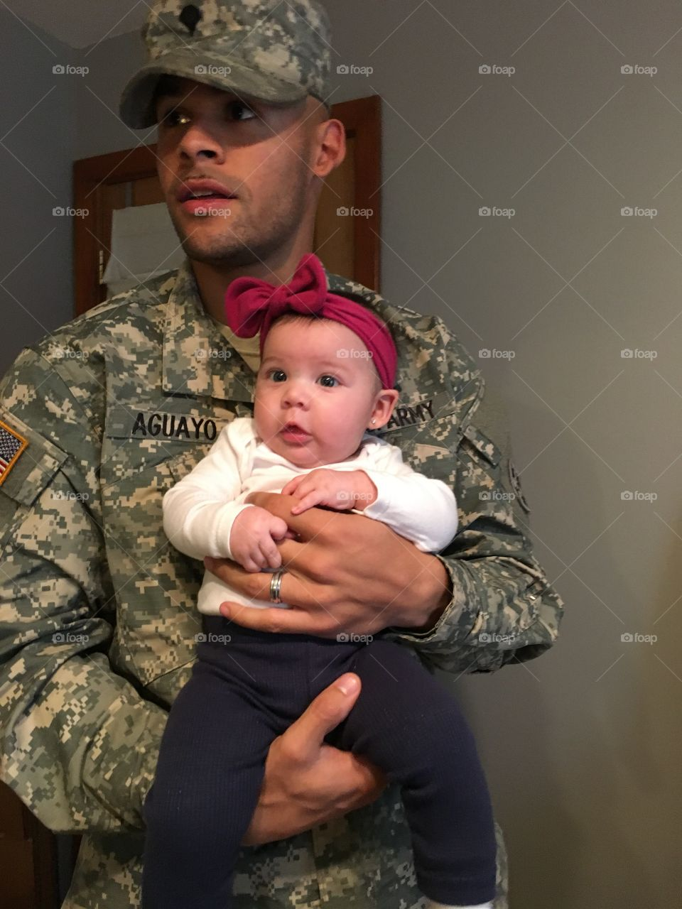 Military Dad and Daughter. The joys of being an Army dad!