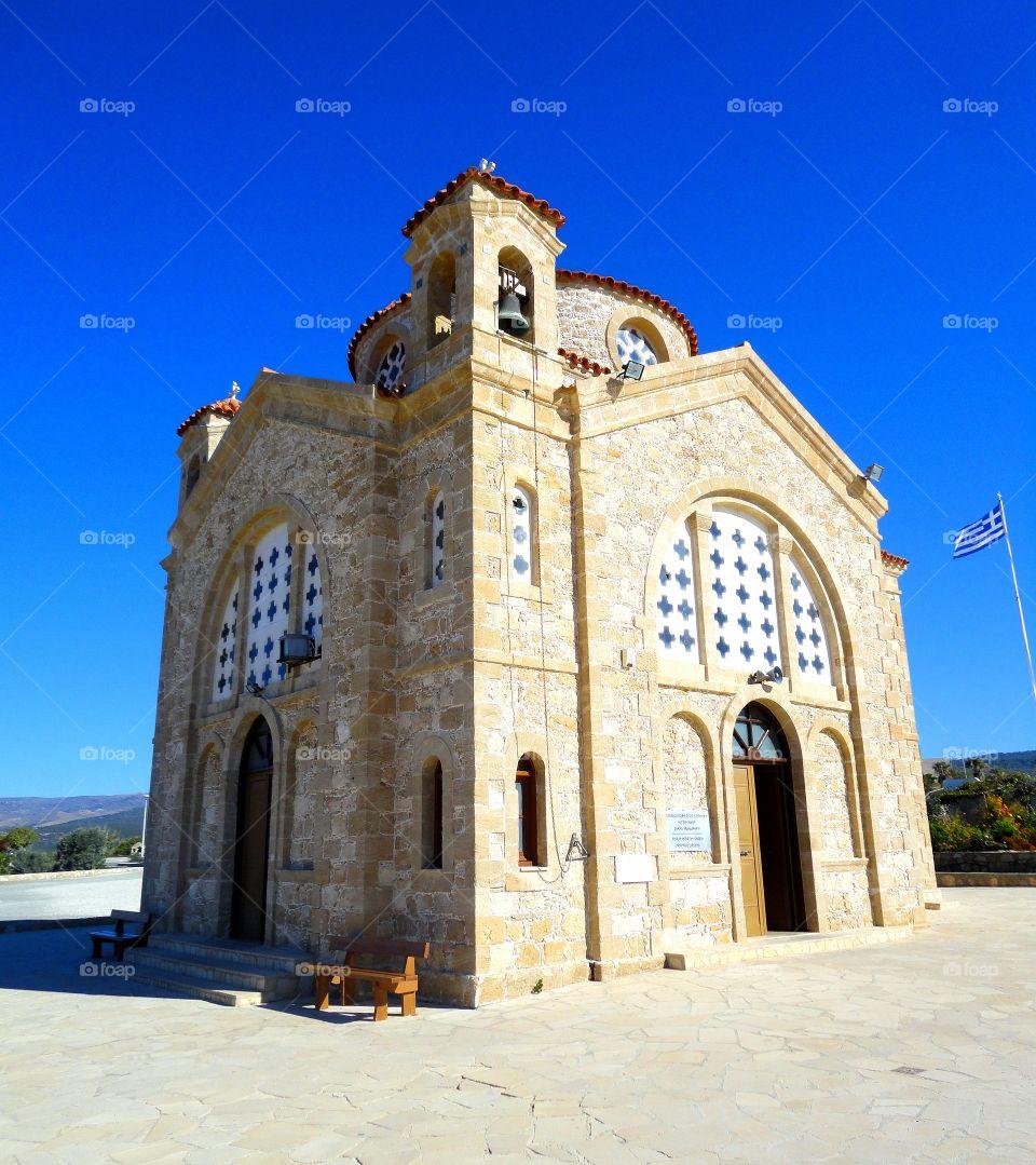 Agious Georgios church against clear sky