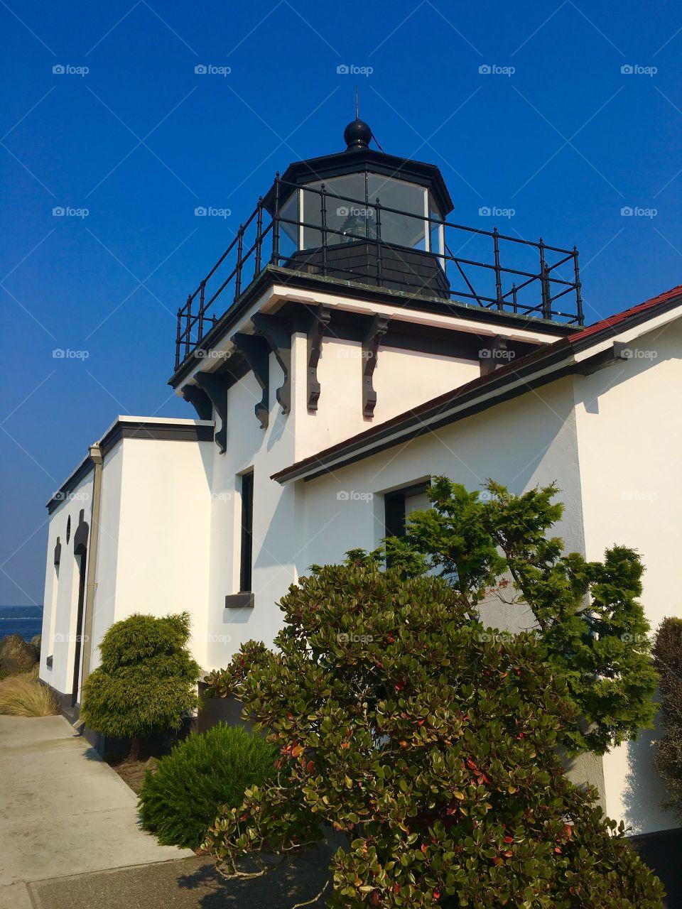 Point No Point Lighthouse, Hansville, Kitsap Peninsula, Washington State