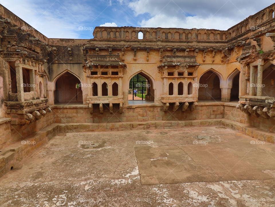 inside queens bath historic place