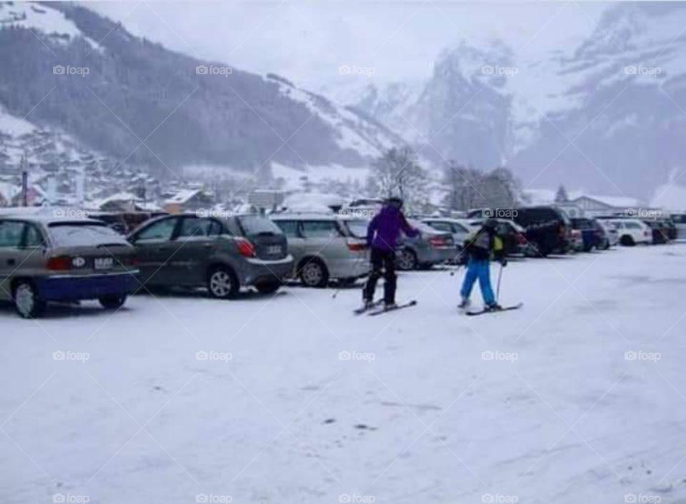 On ski at Engelberg, Switzerland