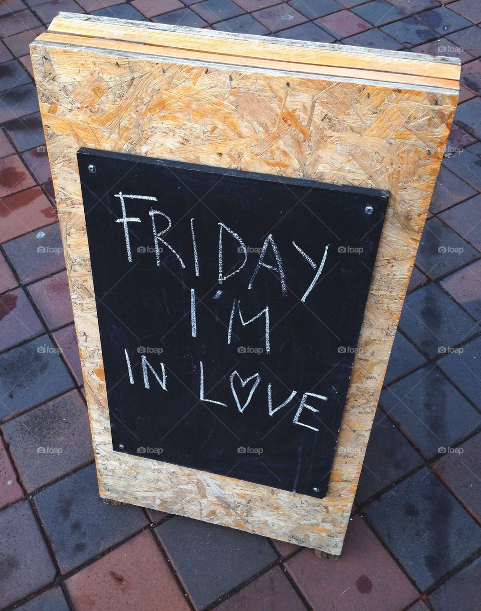 Friday sign.