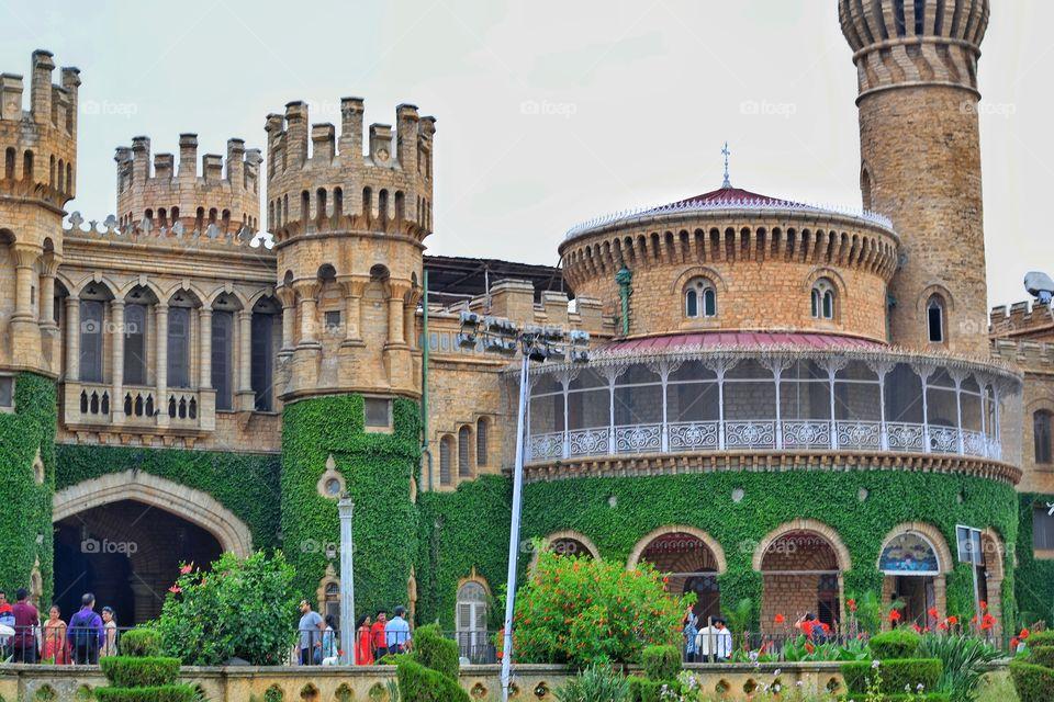 view of Bangalore palace from outside,  Bangalore - India