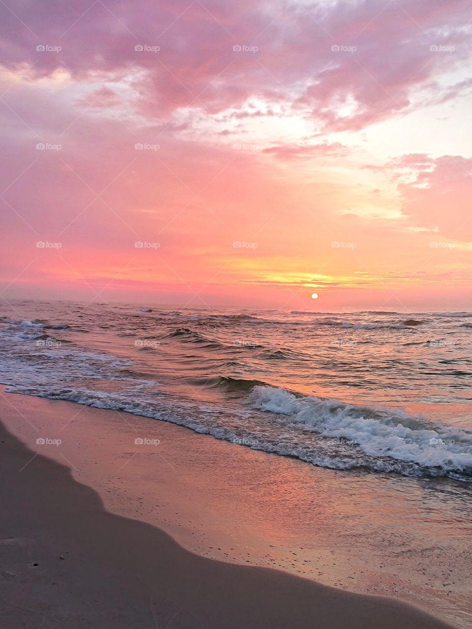 Sunset. Baltic Sea
