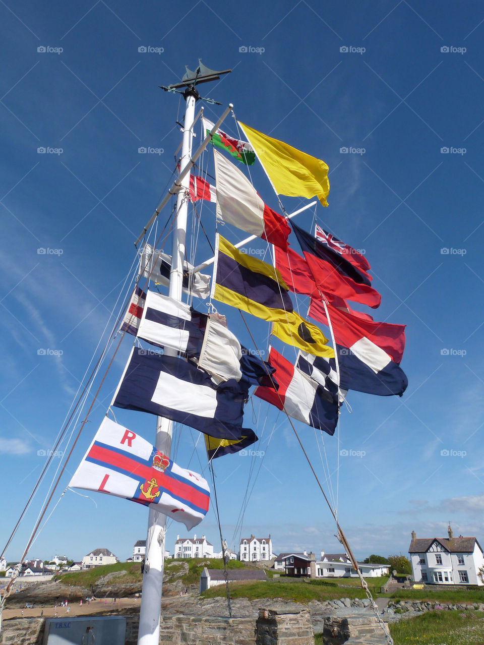 sky weather flags pole by samspeed87