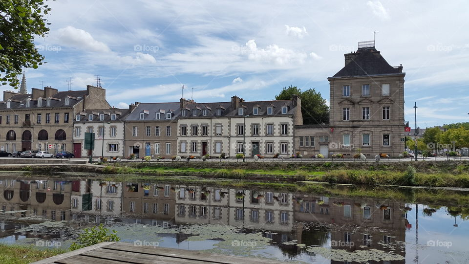 River in Pontivy, Brittany,  France