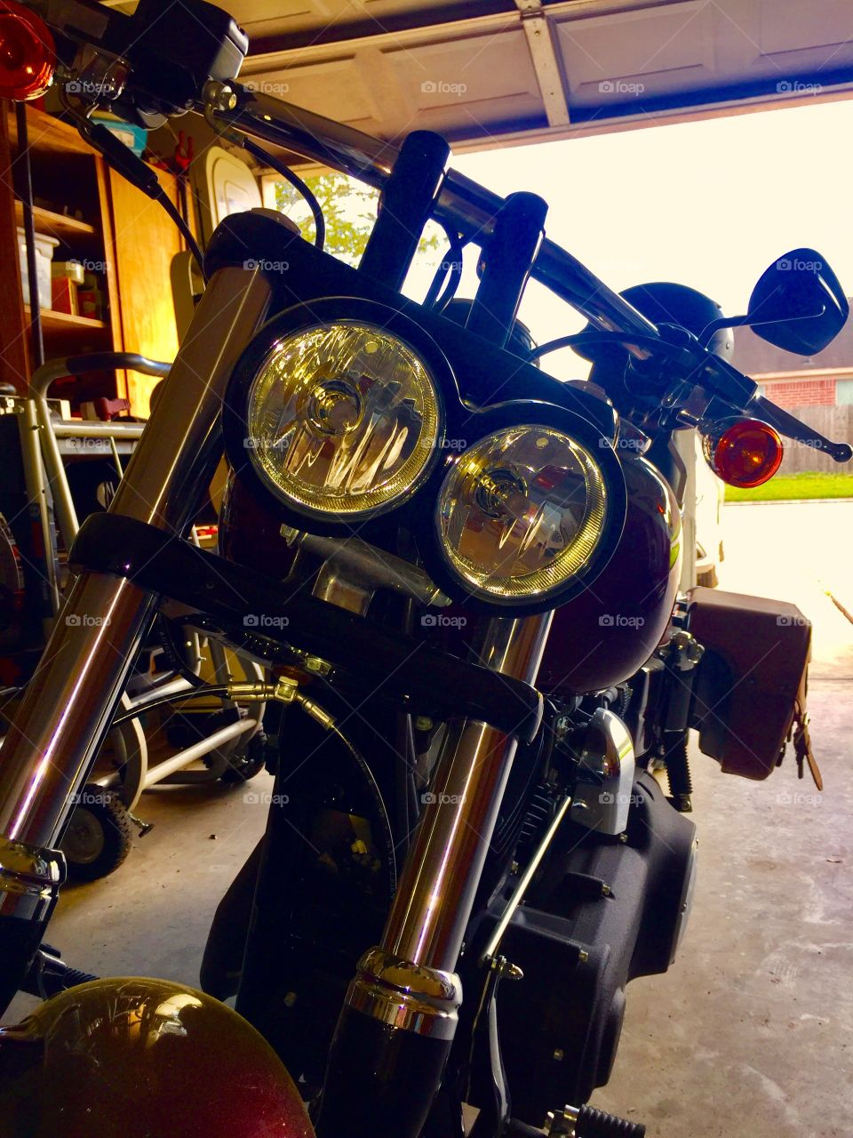 My Harley Davidson is looking at you